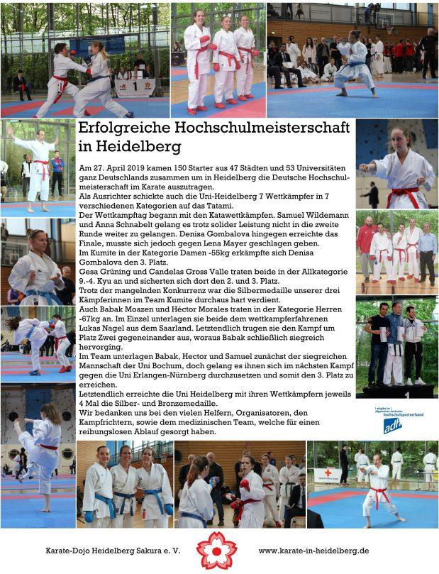 Erfolgreiche Hochschulmeisterschaft in Heidelberg